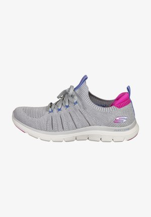 Trainers - gray knit / pink trim