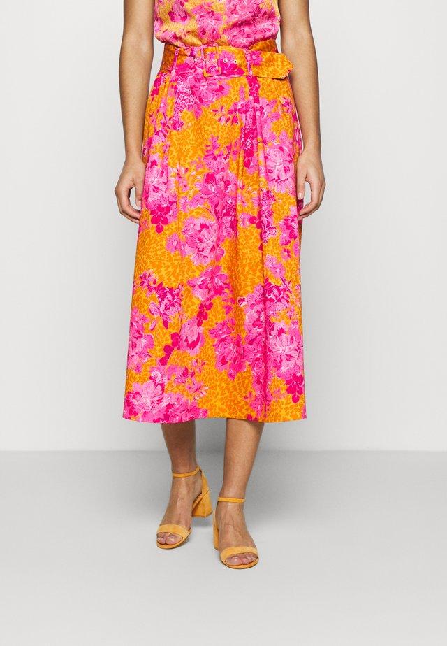 JENDAY - Maxi skirt - yellow