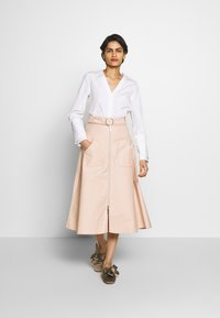 Mykke Hofmann - RONA - A-line skirt - nude denim - 1