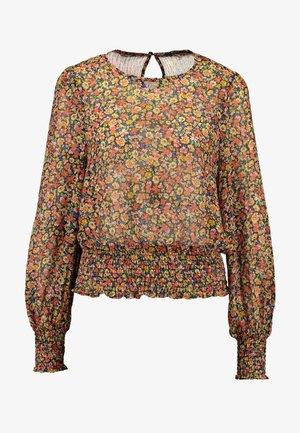 ONLMANDY SMOCK - Bluse - black/multiflower