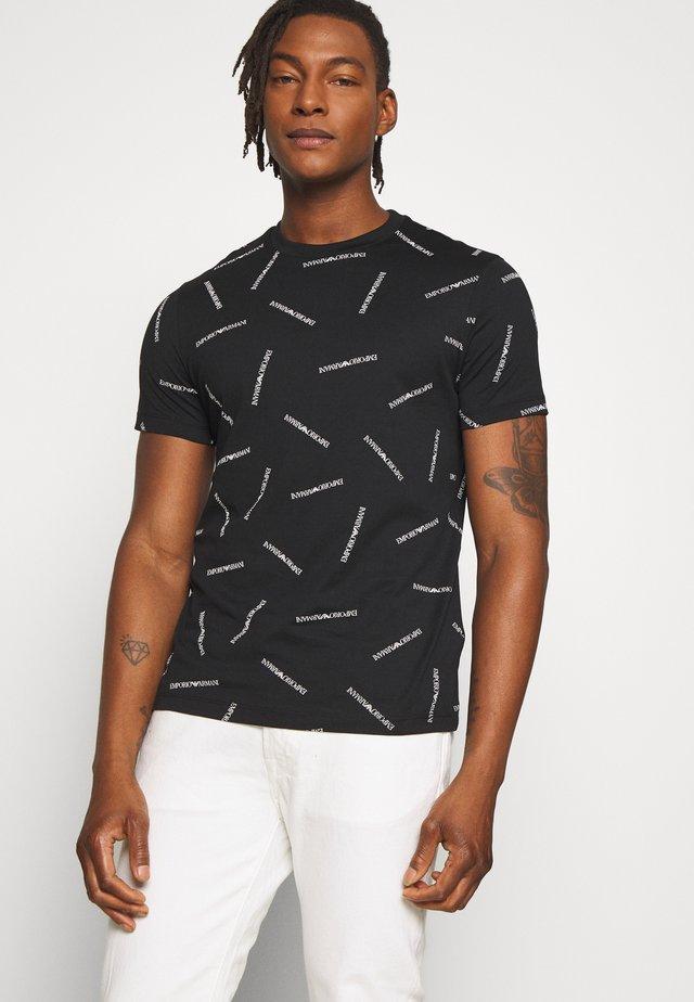 T-Shirt print - nero/bianco