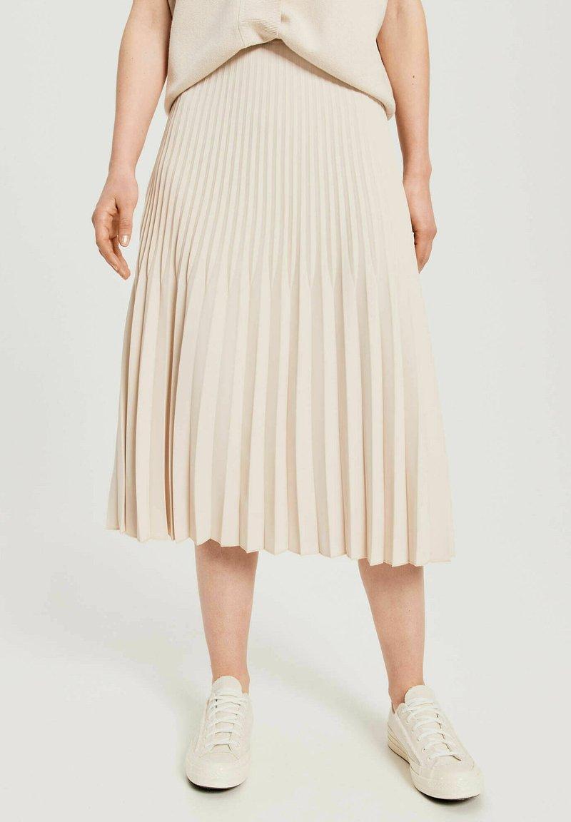 Opus - RINITA ROS - Pleated skirt - stein