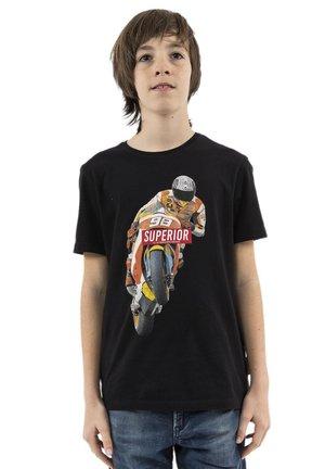BXANDERBO - T-shirt imprimé - noir