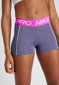 Nike Performance - SHORT SPACE DYE - Tights - cerulean/white - 2