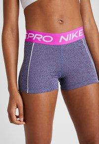 Nike Performance - SHORT SPACE DYE - Legging - cerulean/white - 2
