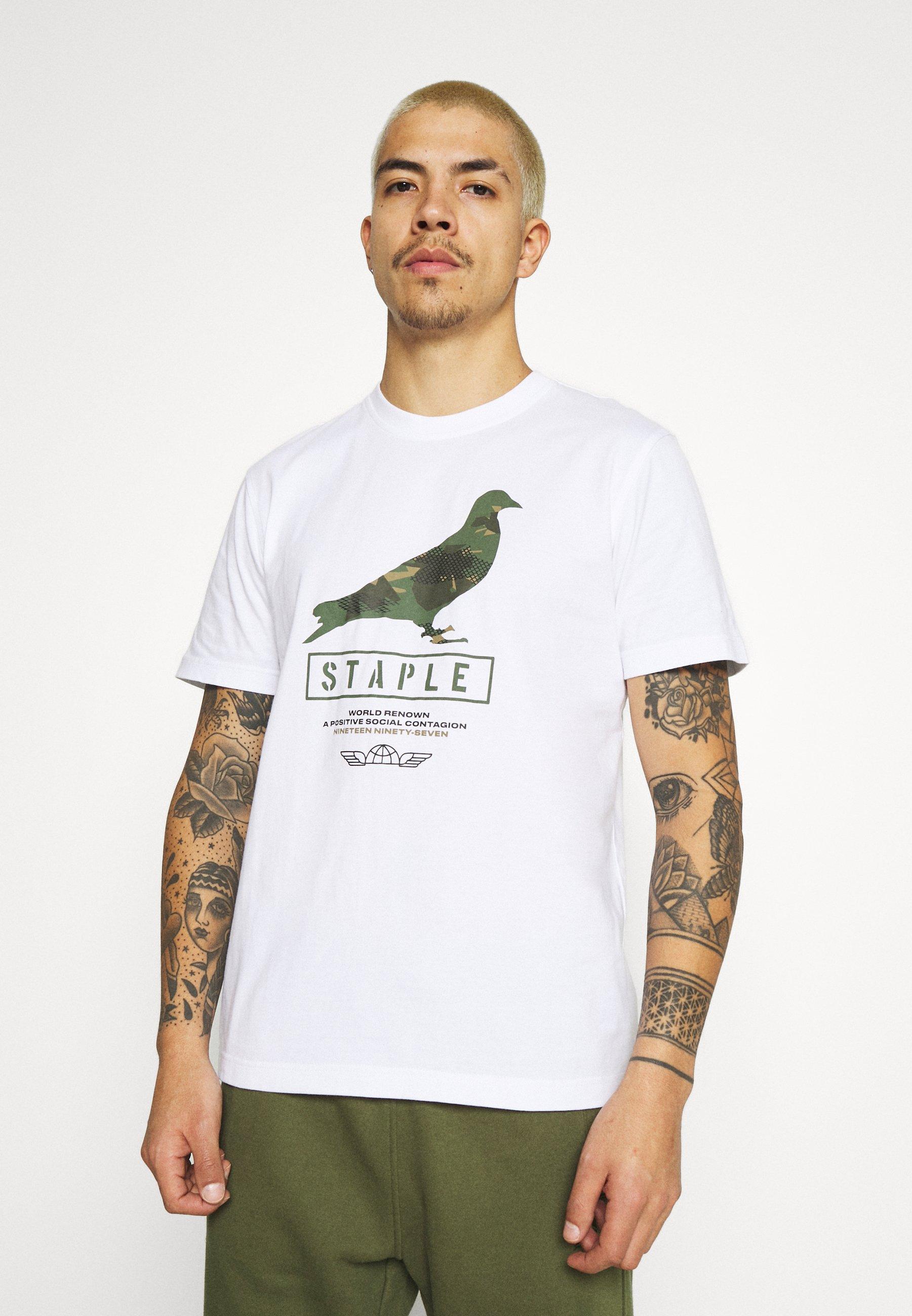 Women UNISEX WIRE CAMO PIGEON TEE - Print T-shirt