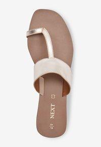 Next - T-bar sandals - gold - 2