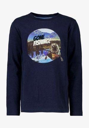 Langærmede T-shirts - evening blue