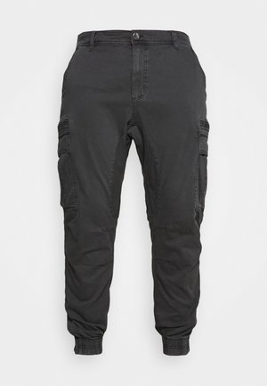 URBAN JOGGER PLUS - Cargo trousers - duster black