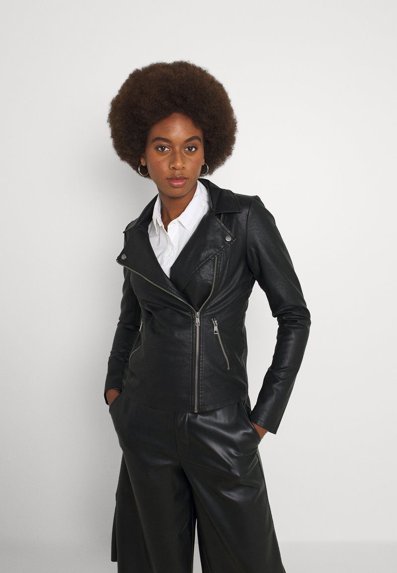 ONLY Tall - ONLMELISA BIKER - Giacca in similpelle - black