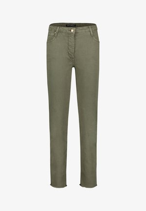 MIT OFFENEM SAUM - Slim fit jeans - dusty olive