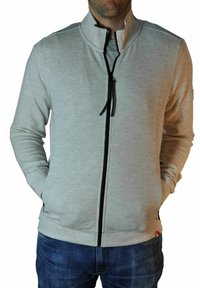 LERROS - Zip-up hoodie - cream white melange - 2
