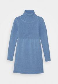 Blue Seven - KIDS ROLLNECK DRESS - Gebreide jurk - hellblau - 0