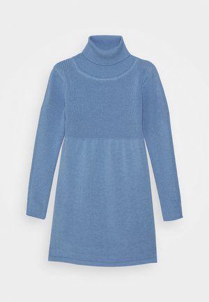 KIDS ROLLNECK DRESS - Pletené šaty - hellblau
