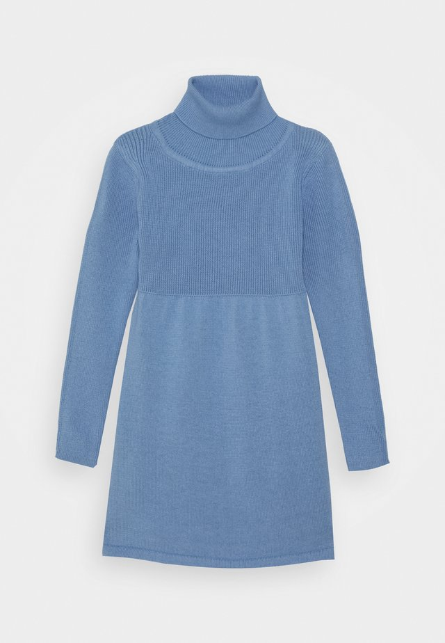 KIDS ROLLNECK DRESS - Vestido de punto - hellblau