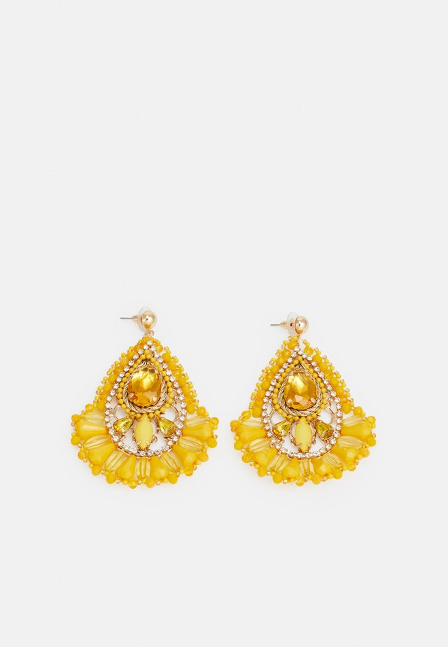 TOAMA - Earrings - dark yellow