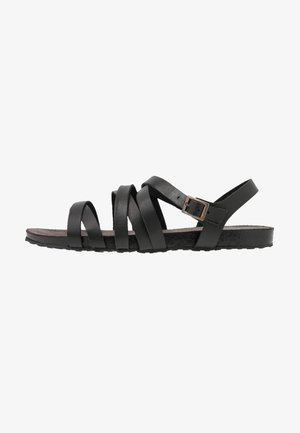 LEATHER SANDALS - Sandály - black