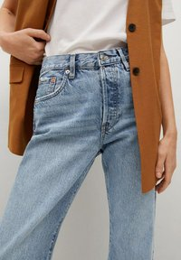 Mango - Straight leg jeans - medium blue - 4