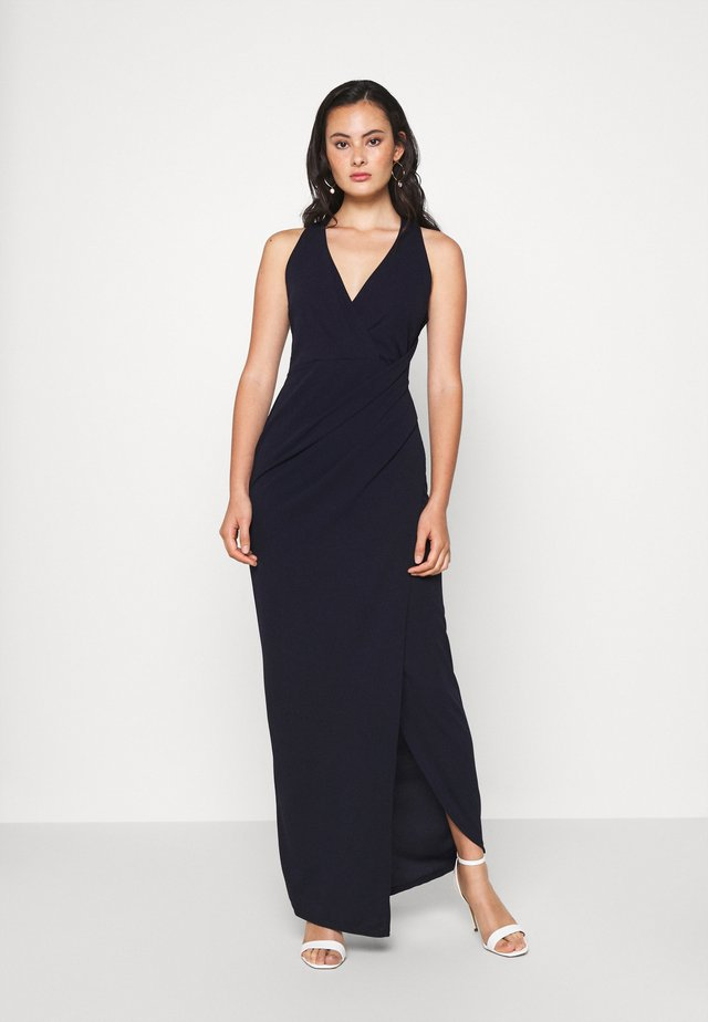 HALTER NECK DRESS - Robe de cocktail - navy blue