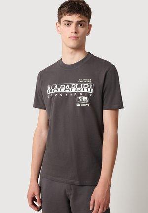 Print T-shirt - dark grey solid