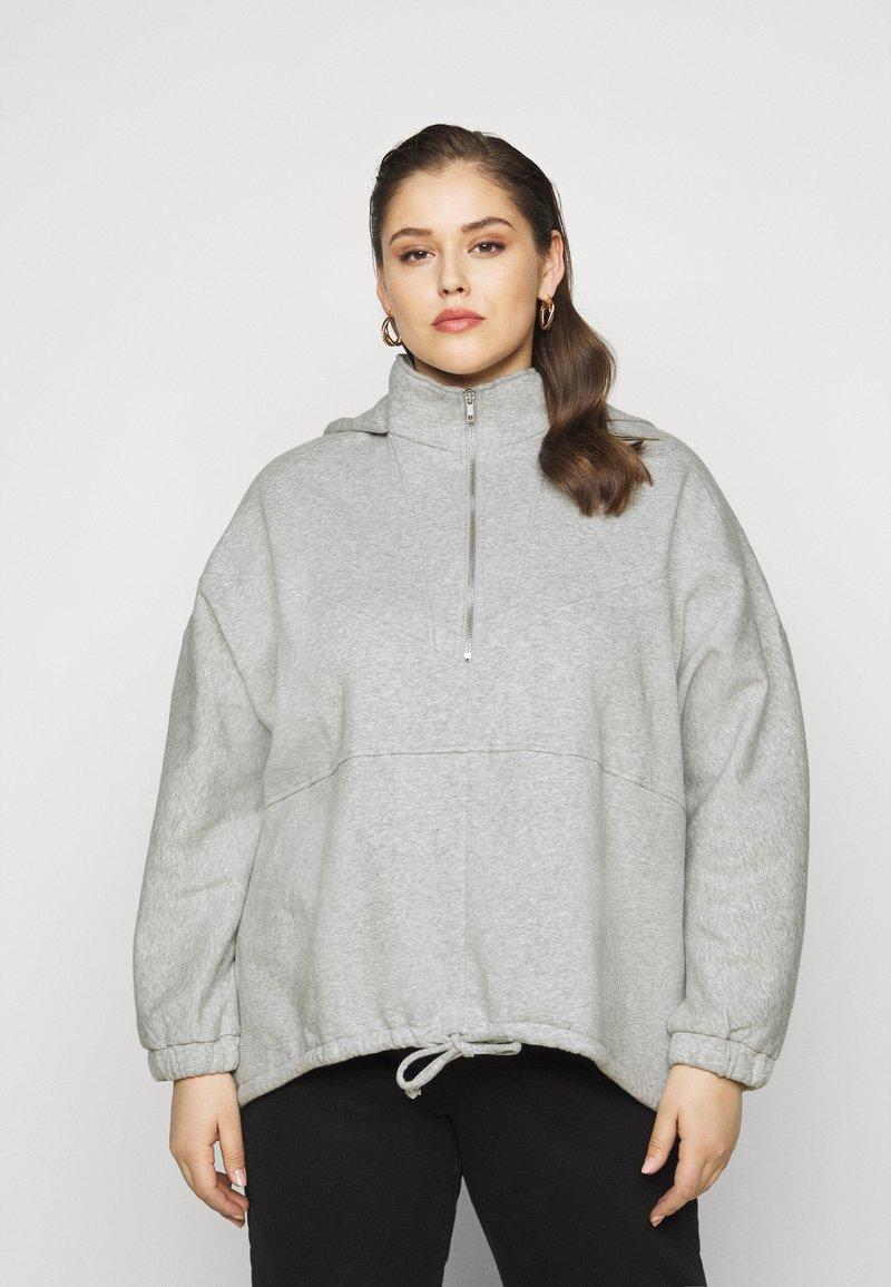 Pieces Curve - PCRIO  LOUNGE  CURVE - Sweatshirt - light grey melange