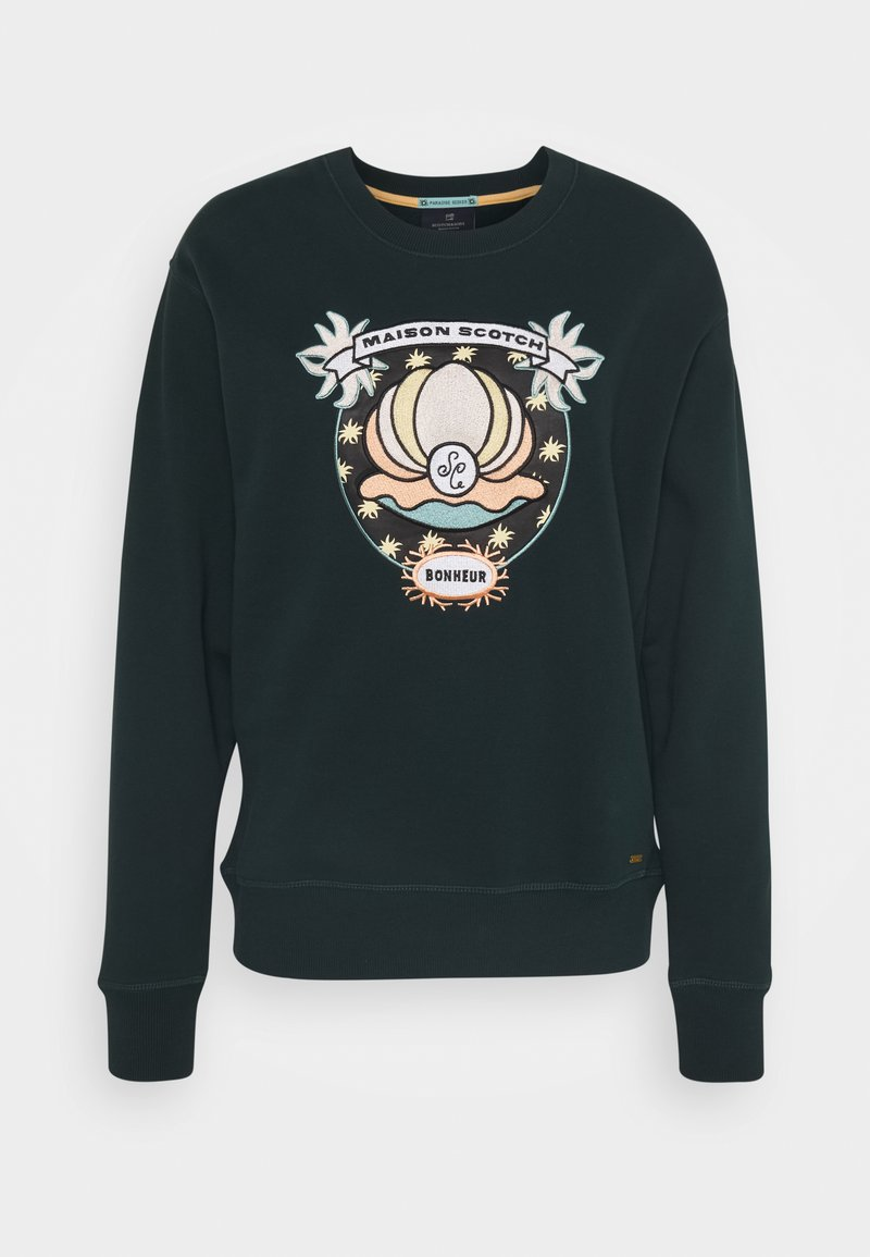 Scotch & Soda - WITH VARIOUS ARTWORKS - Sweater - lagoon green