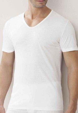 KURZARM  V NECK - Undershirt - white