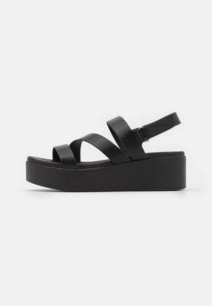 PERWELL - Platform sandals - black