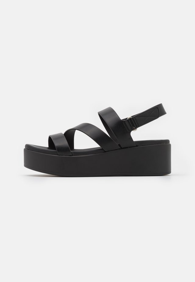 PERWELL - Platform sandals - black