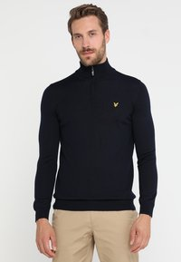 Lyle & Scott - GOLF QUARTER ZIP - Strickpullover - navy - 0