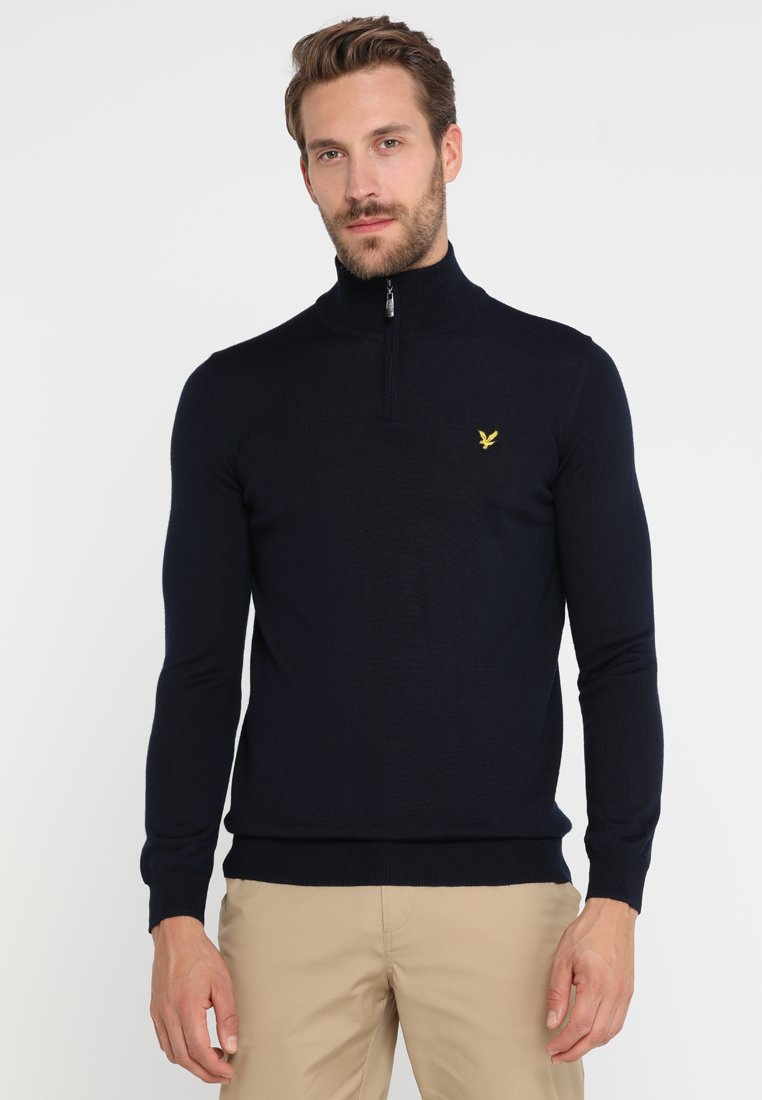 Lyle & Scott - GOLF QUARTER ZIP - Strickpullover - navy