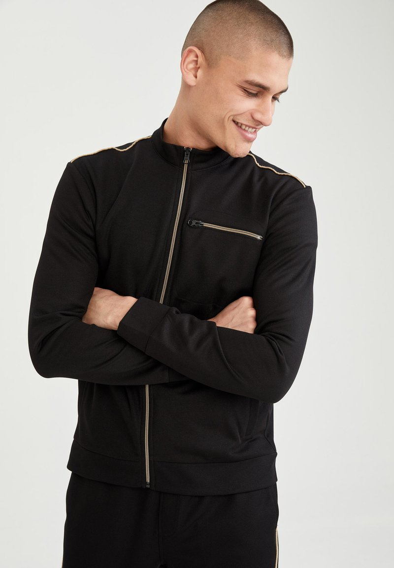 DeFacto - Sweat à capuche zippé - black