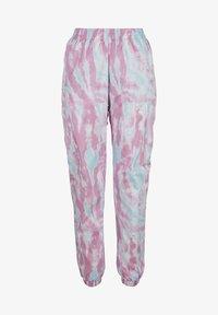 Urban Classics - FRAUEN  - Pantalones deportivos - aquablue/pink - 5