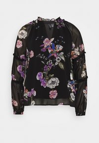 Vero Moda - VMLOVELY VNECK - Blouse - black - 5