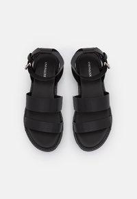 Even&Odd Wide Fit - Platform sandals - black - 5