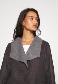 JDY - JDYSANNA DRAPY CARCOAT - Short coat - dark grey melange - 3