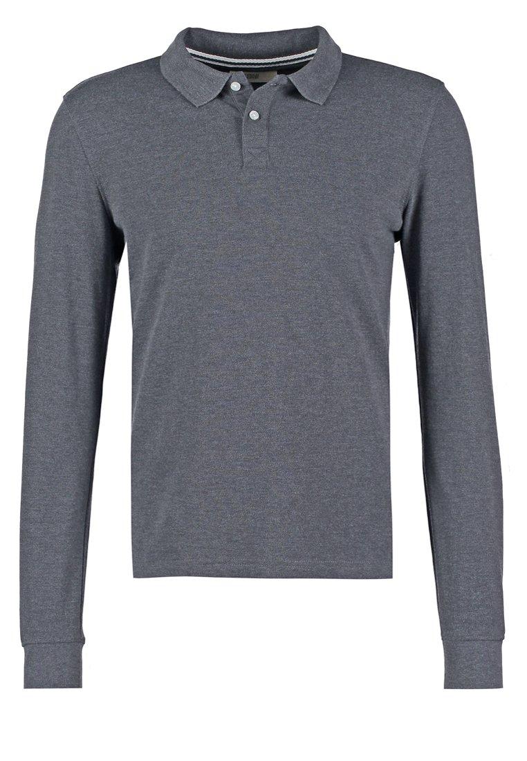 Pier One Poloskjorter - Dark Grey Melange/mørkegrå-melert