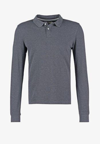 Polo shirt - dark grey melange