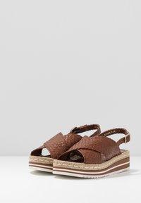 Pons Quintana - Platform sandals - toffee/cognac - 4