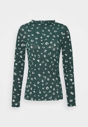 LONGSLEEVE WITH LETTUCE EDGES - Long sleeved top - green/beige