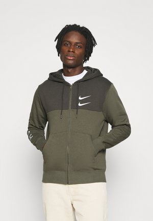 HOODIE - Mikina na zip - twilight marsh/white