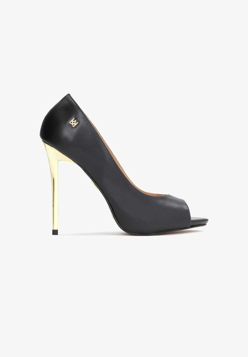 Kazar - TERRY - Peeptoe heels - black