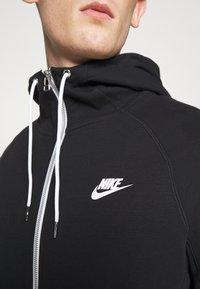 Nike Sportswear - MODERN HOODIE - Zip-up hoodie - black/ice silver/white - 5
