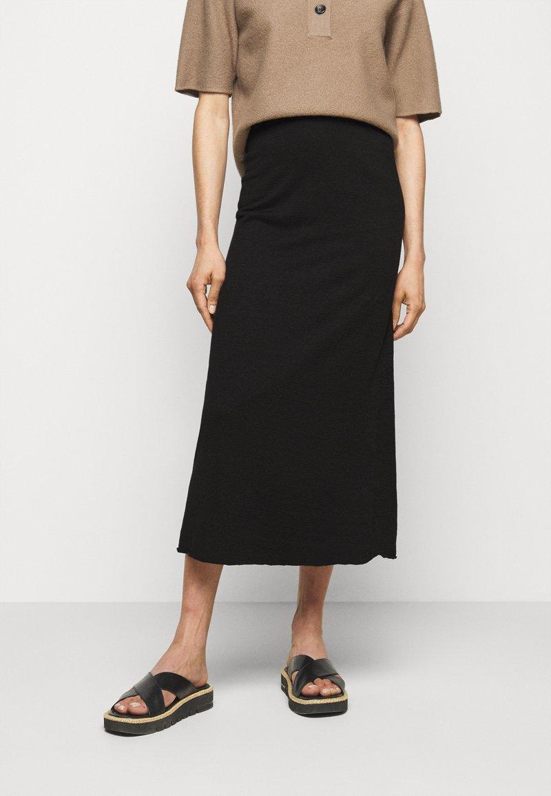 Filippa K - HILARY SKIRT - Áčková sukně - black