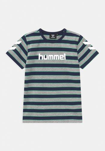 AJAX UNISEX - Print T-shirt - grey melange