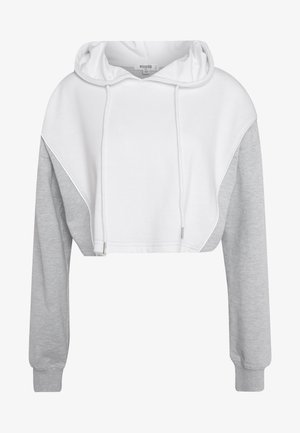 ORDREFLECTIVE CONTRAST CROPPED HOODY - Hoodie - white/grey marl