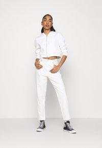 Monki - Zip-up sweatshirt - offwhite light - 1