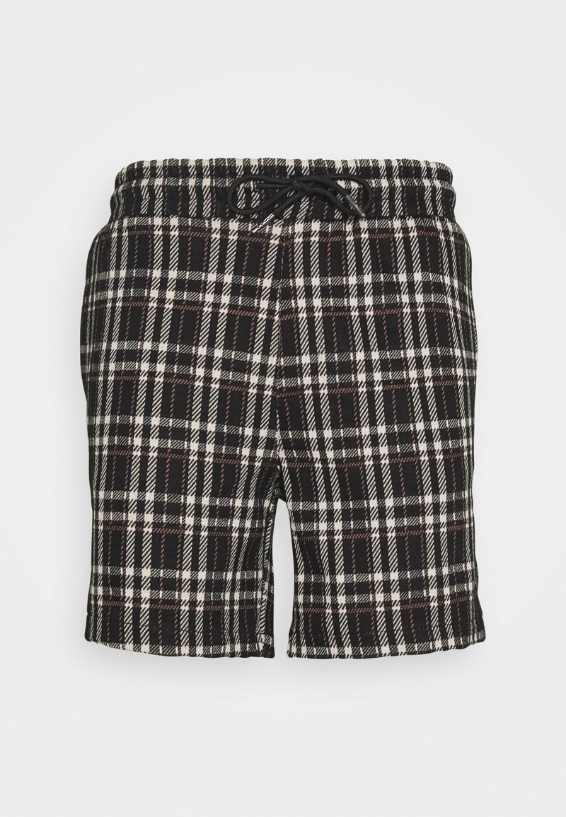Denim Project - ELASTIC - Shorts - black/beige