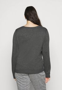 Anna Field Curvy - Jumper - dark grey mélange - 2
