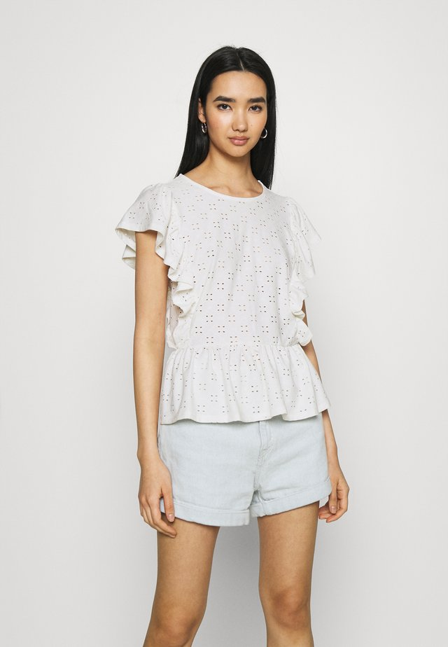 VITRESSY CAPSLEEVE - T-shirt con stampa - cloud dancer